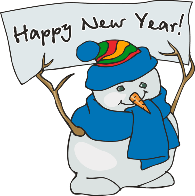 Free cliparts snowman breakfast. January clipart end