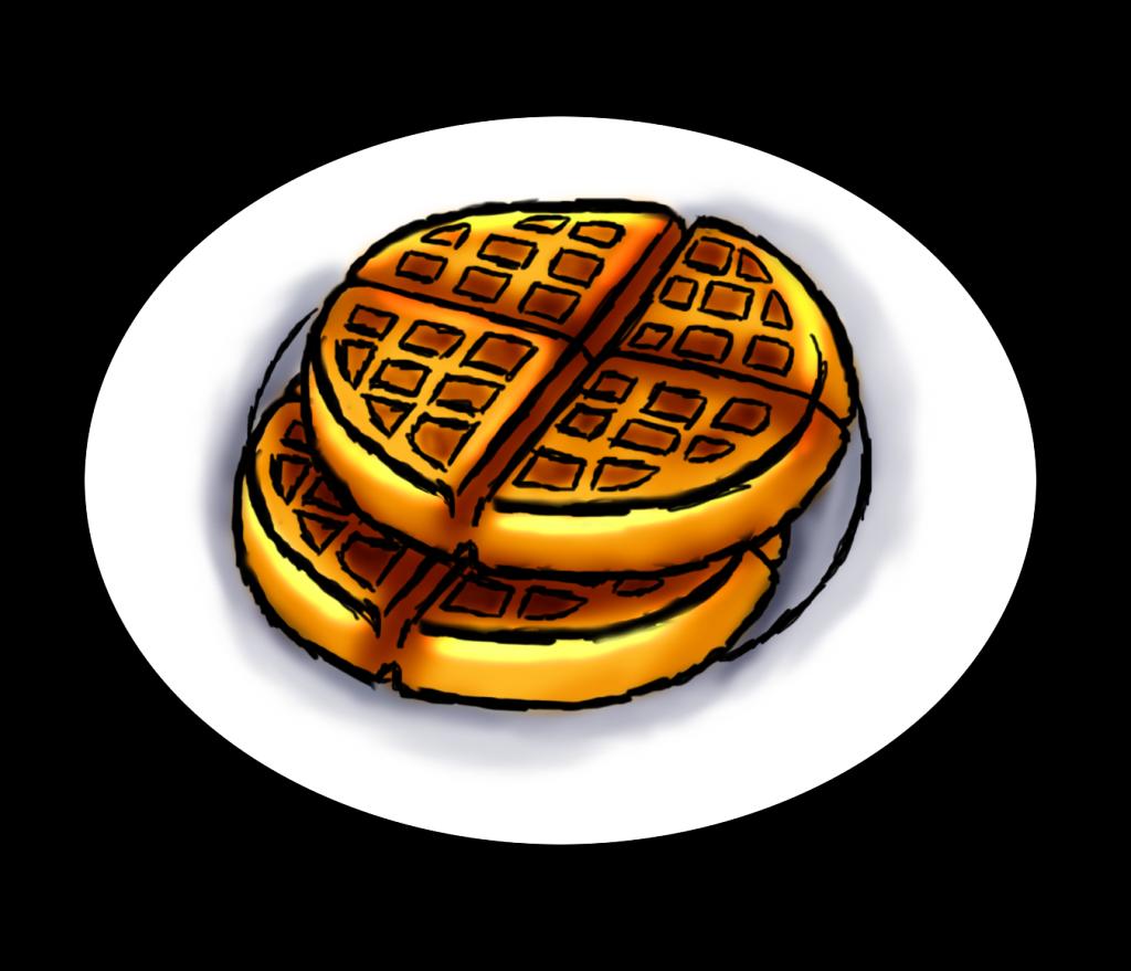Breakfast waffles . Brunch clipart waffle