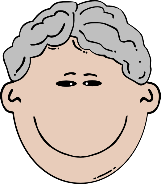 Old mann clip art. Clipart smile brown haired man