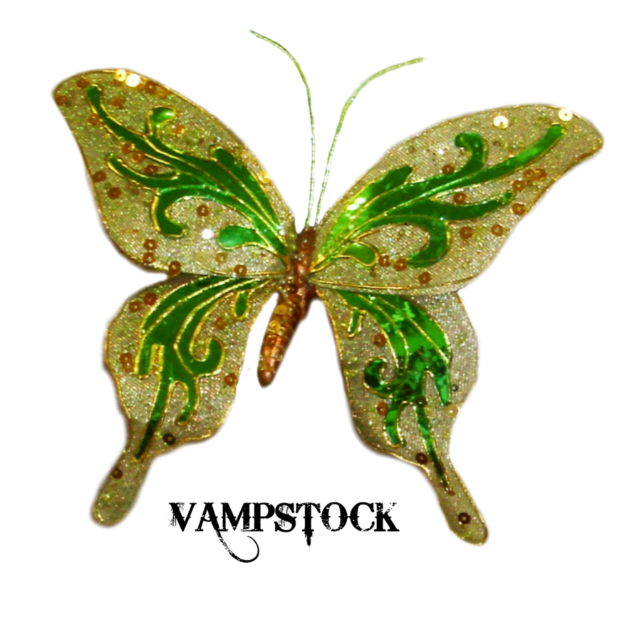 Butterfly png vampstock by. Glitter clipart green glitter