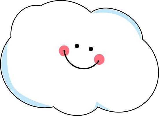 Cloud clip art images. Clouds clipart cute