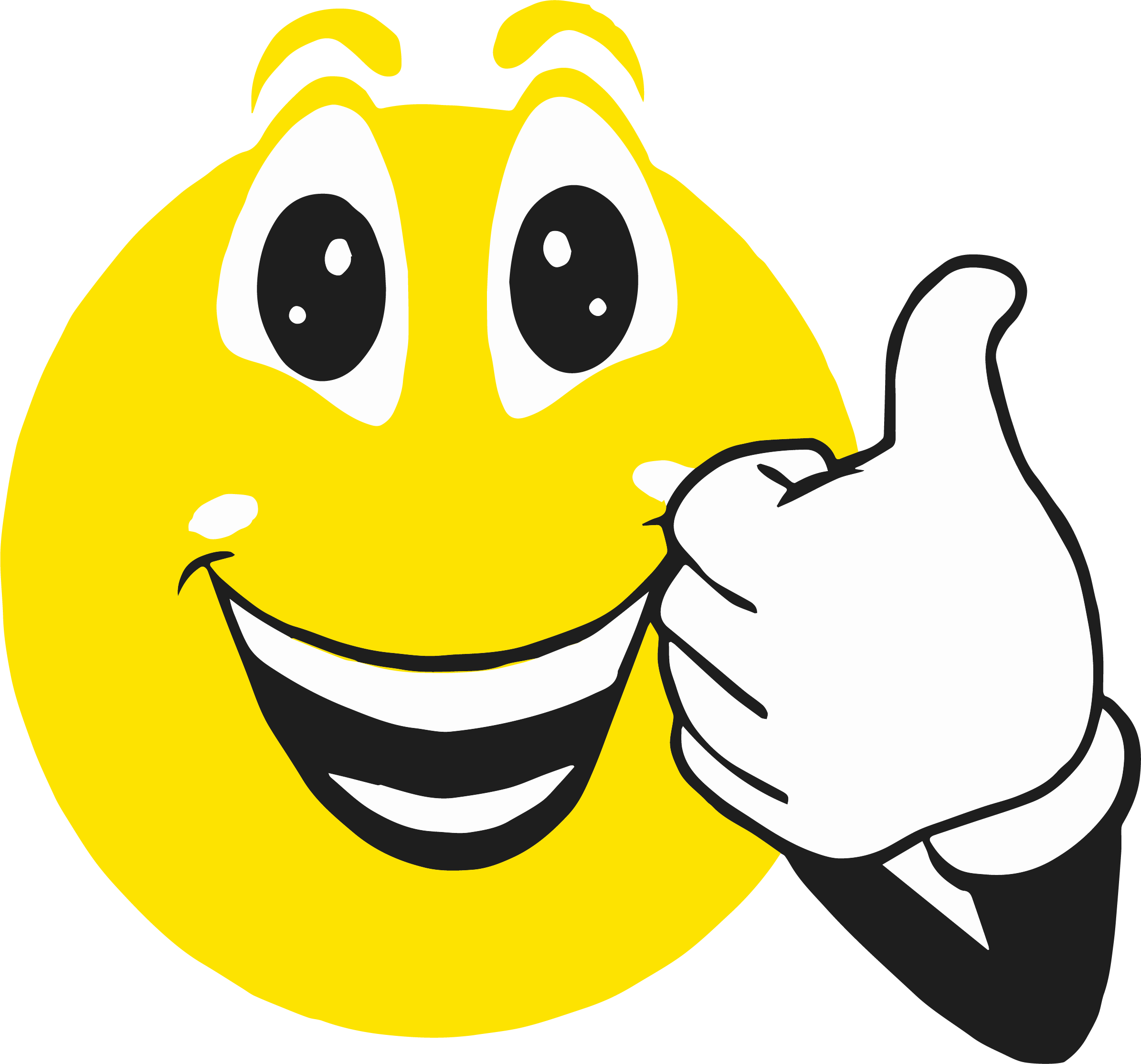 Clipart smile content face. Smiley clip art thumbs