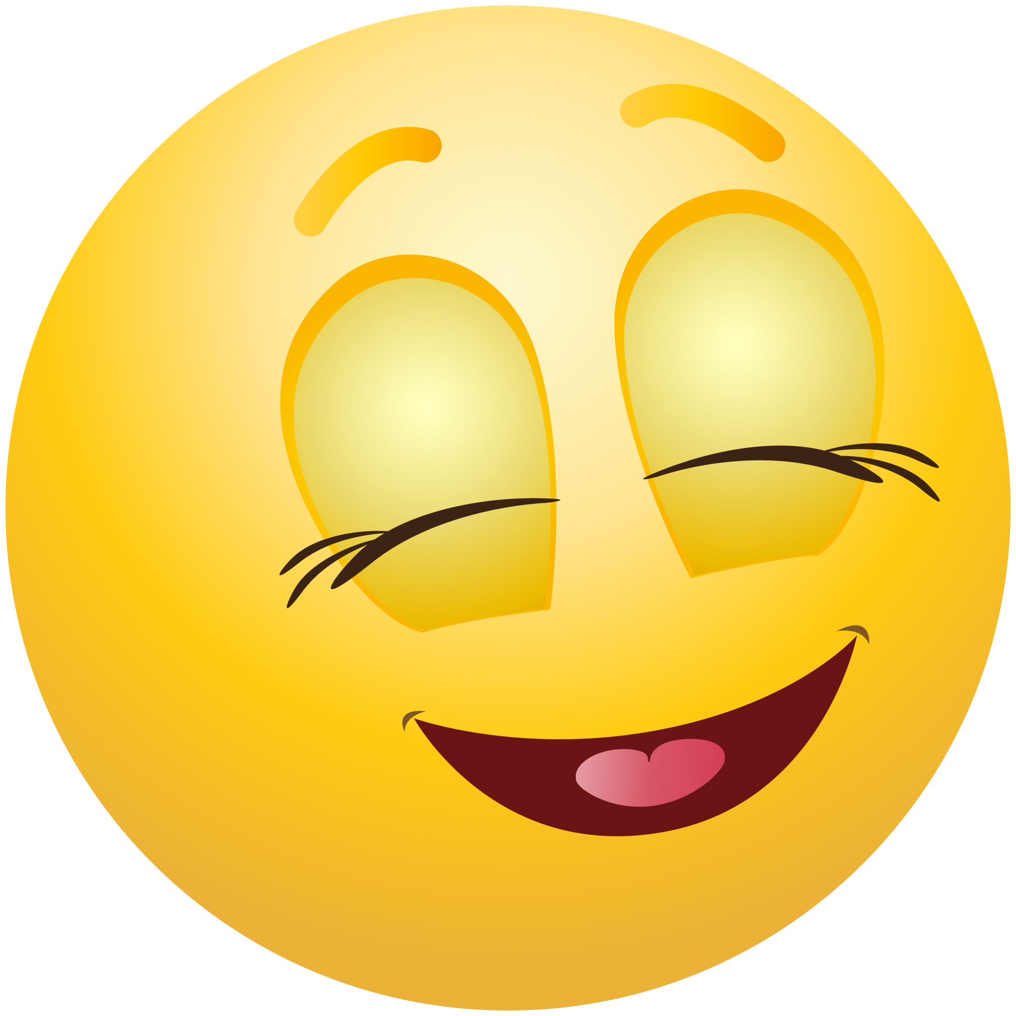 collection of emoji. Clipart smile crooked smile
