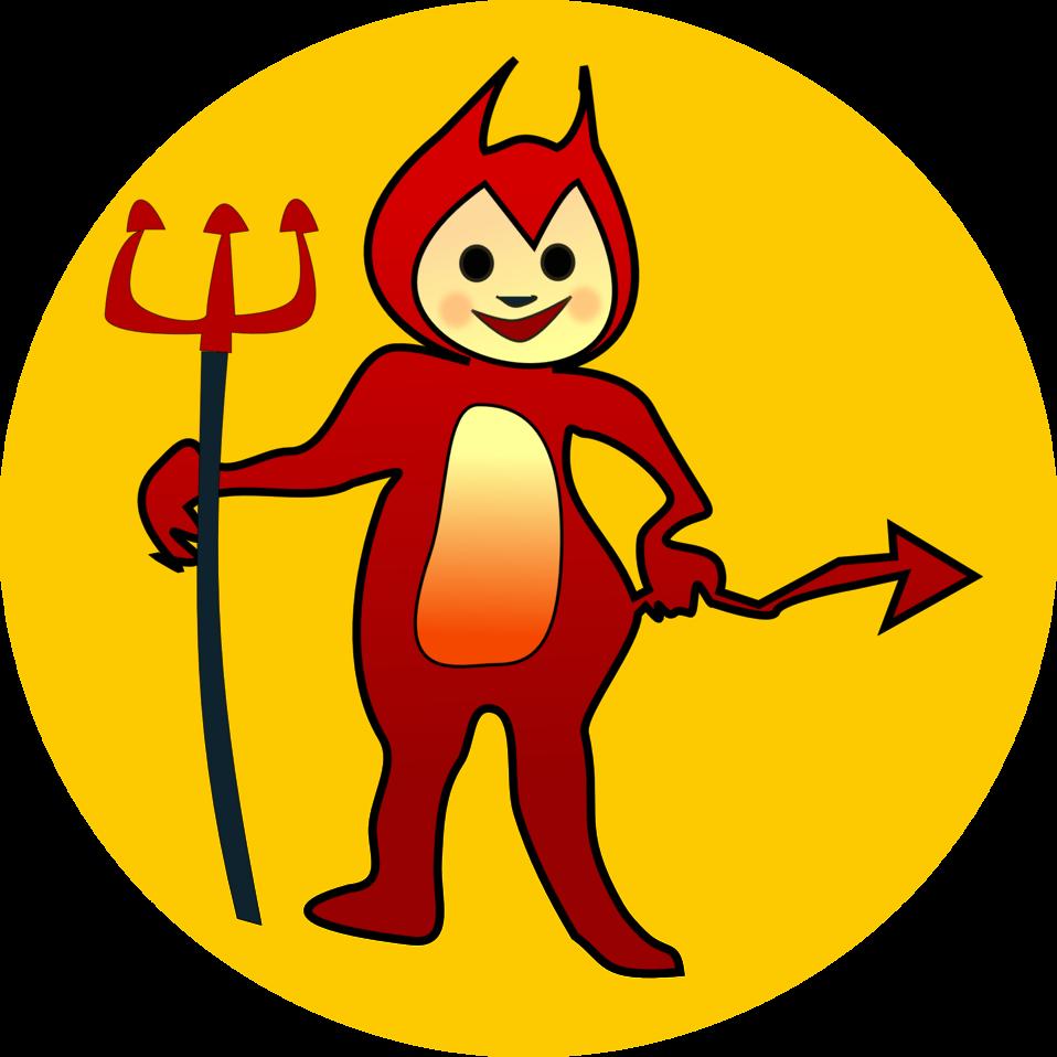 Public domain clip art. Clipart smile devil