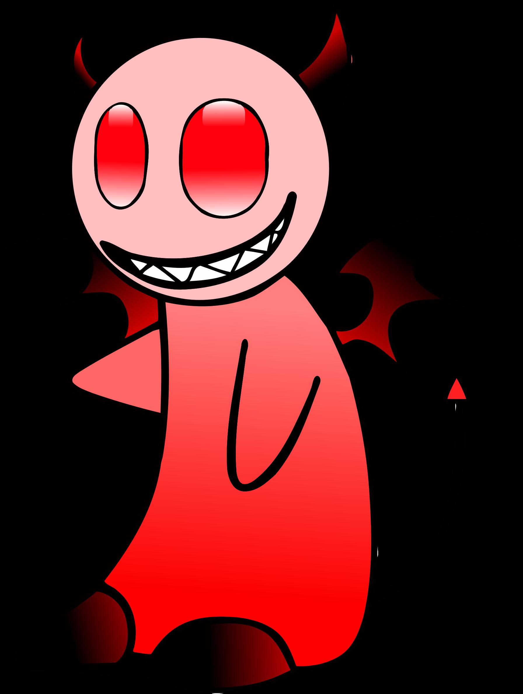 Big image png. Devil clipart smile