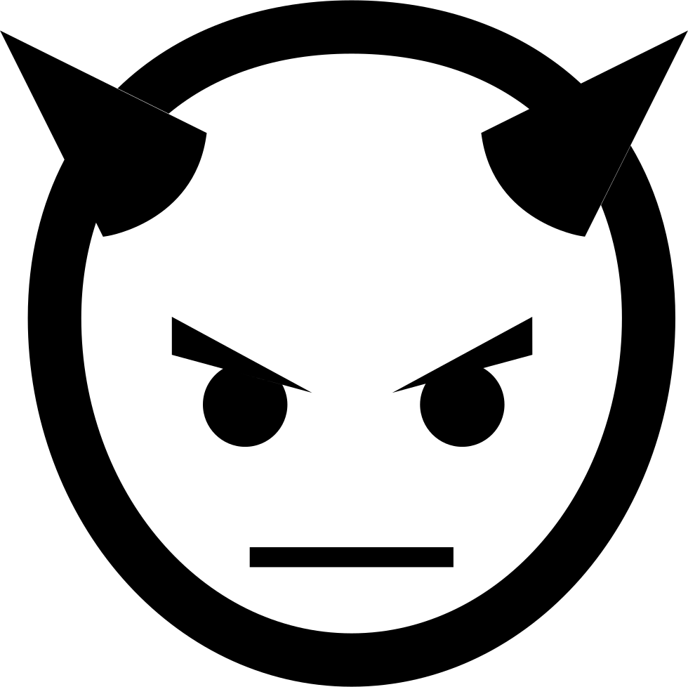 Head with horns svg. Clipart smile devil