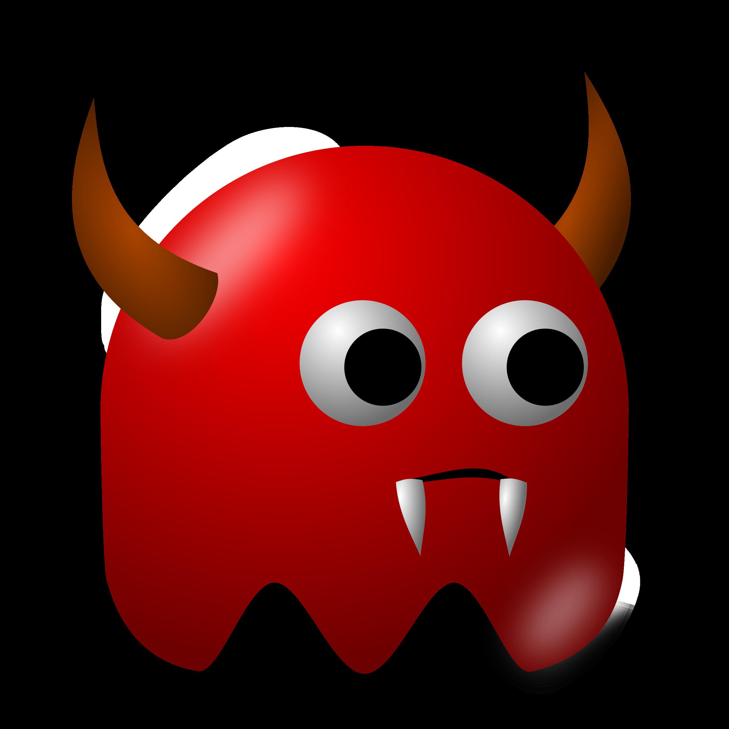 Game baddie big image. Horn clipart real devil
