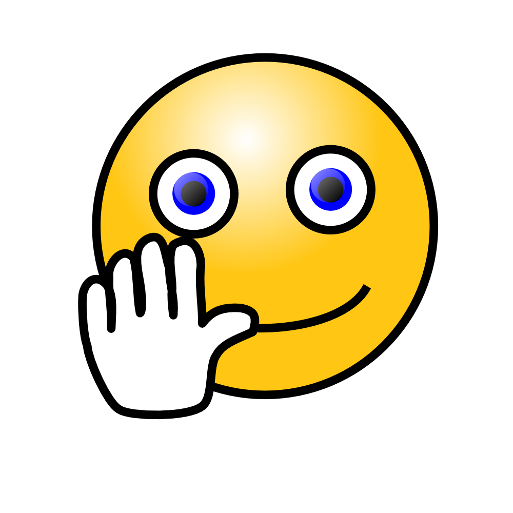 Free smiley face waving. Faces clipart emojis