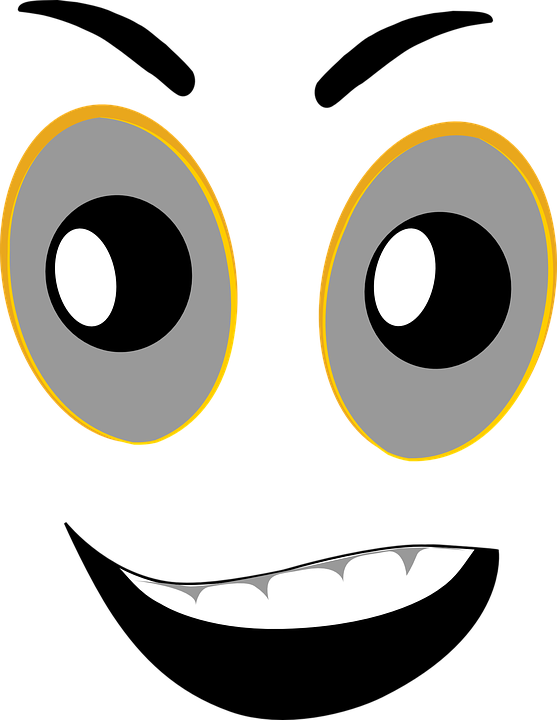 Expression eye nose mouth. Eyes clipart angry