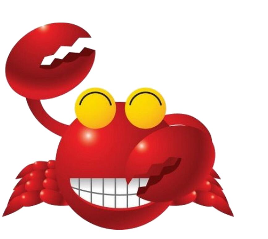 Crabs clipart gambar. Animation bergerak cartoon crab