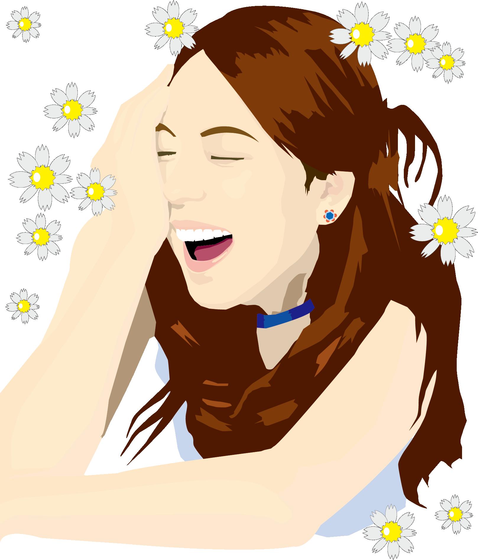 Skin clipart human skin. Face smile woman clip