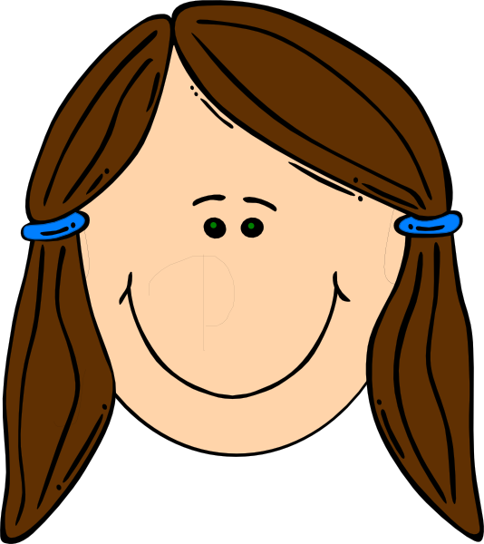 Cartoon drawing of little. Father clipart brown hair