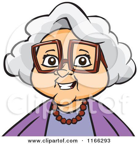 Cartoon of a granny. Grandparents clipart animated