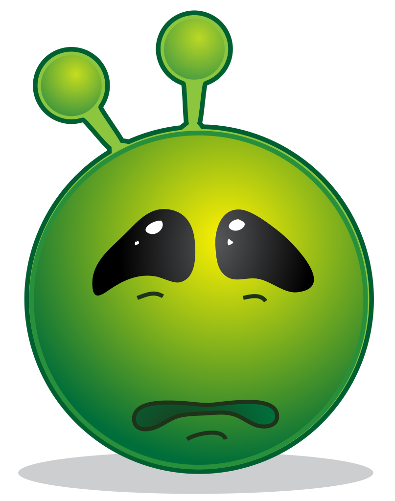 Sad clipart blood. File smiley green alien
