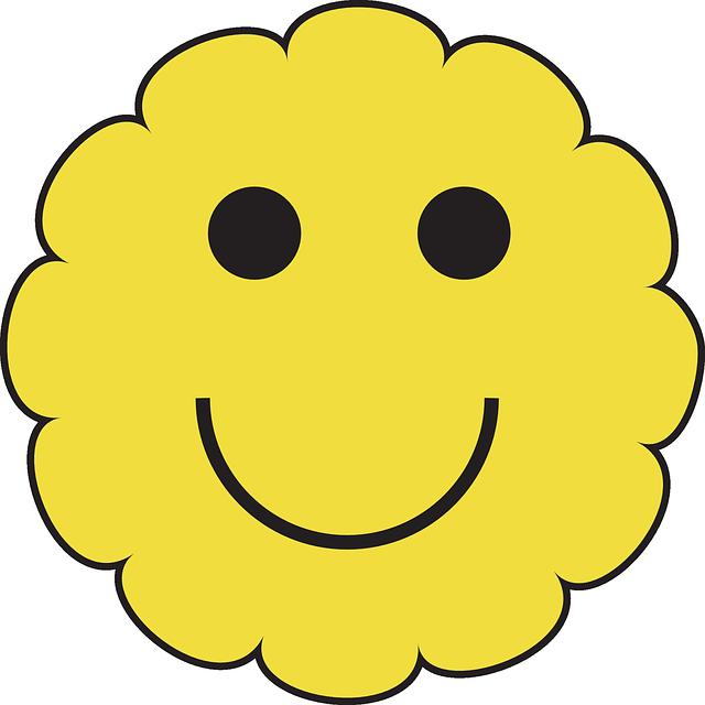 Yellow happy face cartoon. Sunny clipart shades