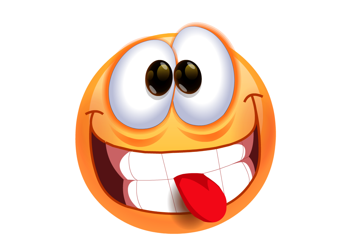 Free smiley with tongue. Clipart smile happy face