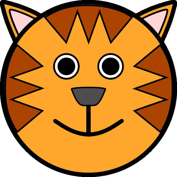 Clipart smile head. Circle tiger clip art