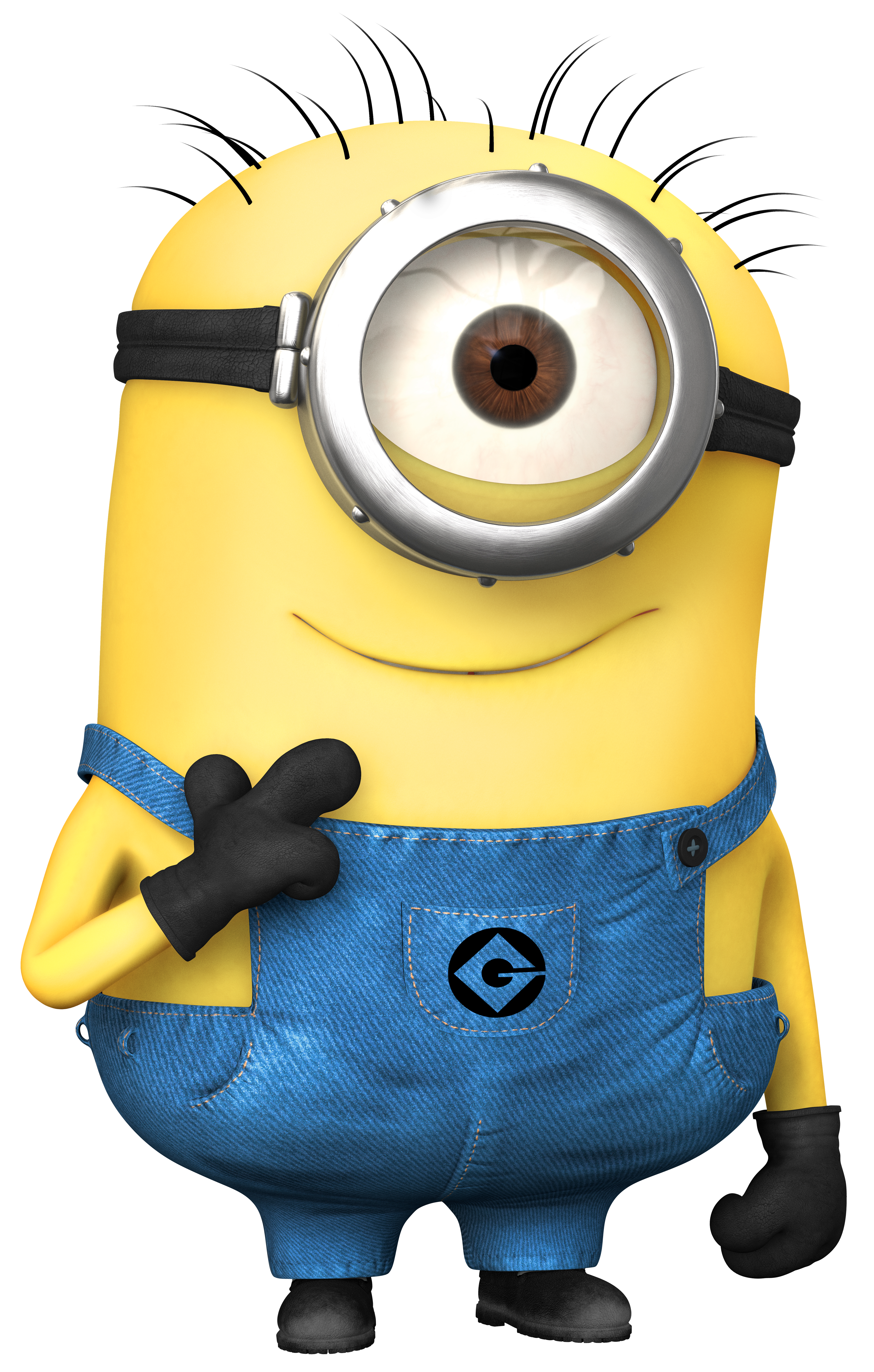 Extra large transparent minion. Minions clipart vector