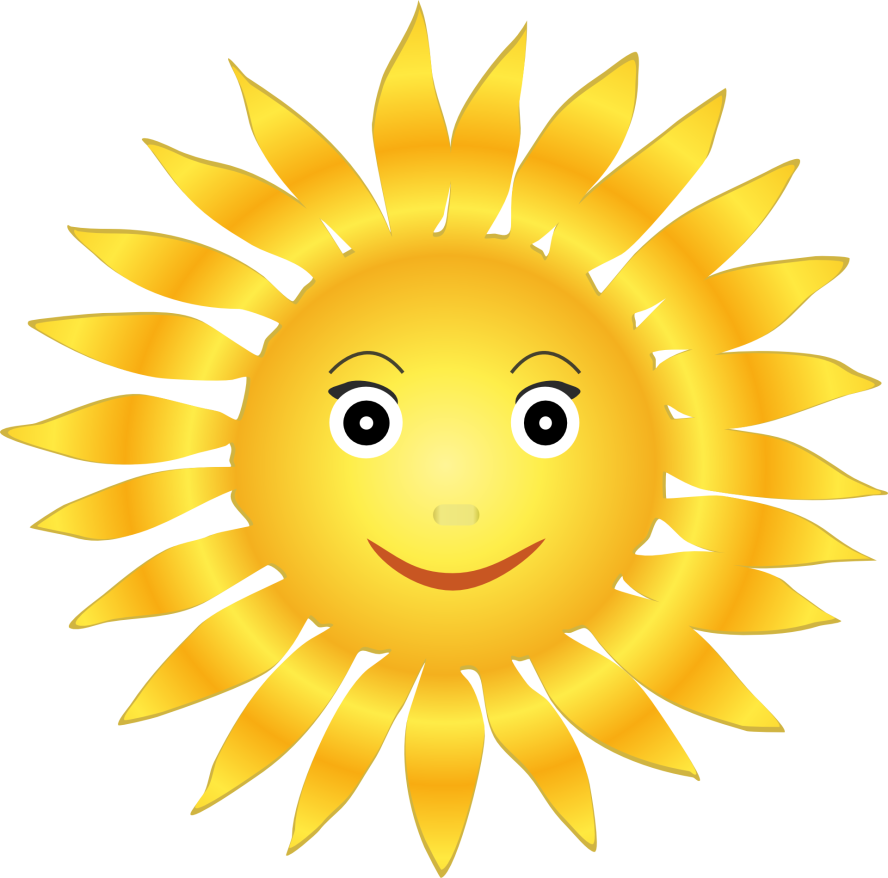 Clipart smile positivity. Little ray of sunshine