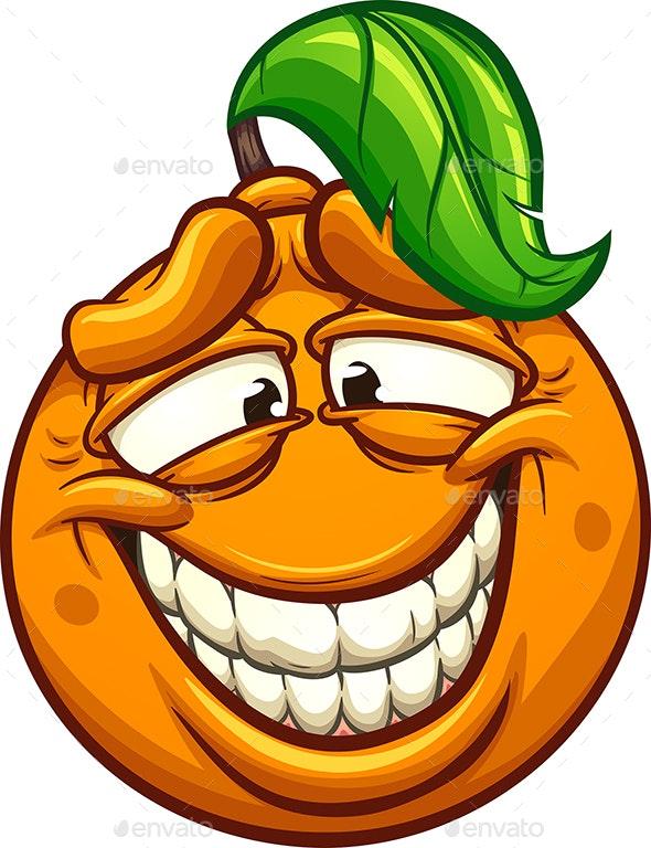 Clipart smile pretty smile. Smiling orange