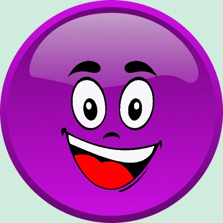 Congratulations clipart face smiley. Cg violet heureux motic