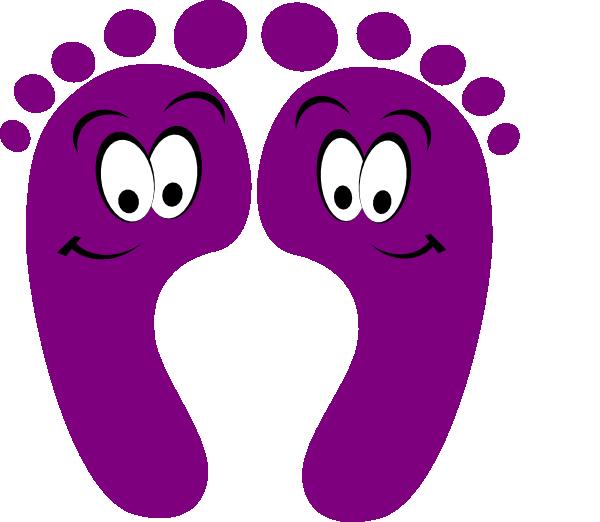 Footprint clipart purple. Happy feet clip art