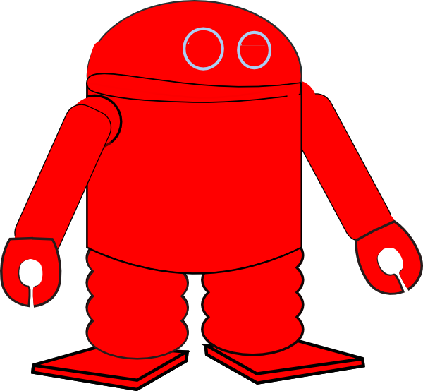 Party clipart robot. Red clip art at