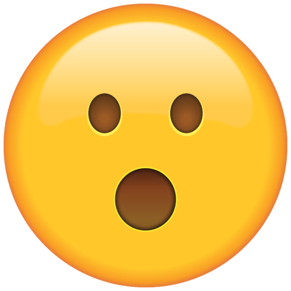 Lightning clipart face. Surprised emoji shocked by