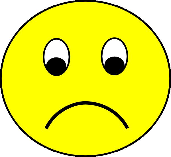 Emotions clipart unhappy. Sad smiley clip art