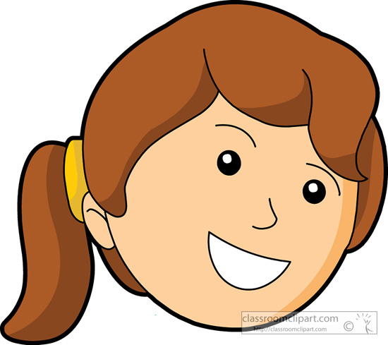 Happy face girl smiley. Girls clipart smile