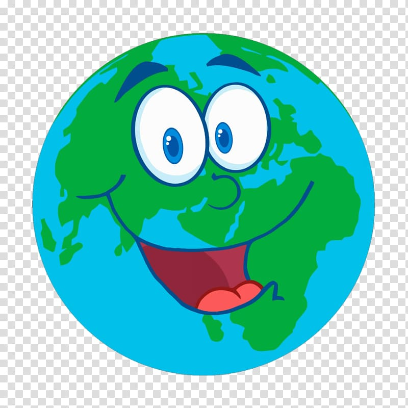 The day earth cartoon. Clipart smile smiled