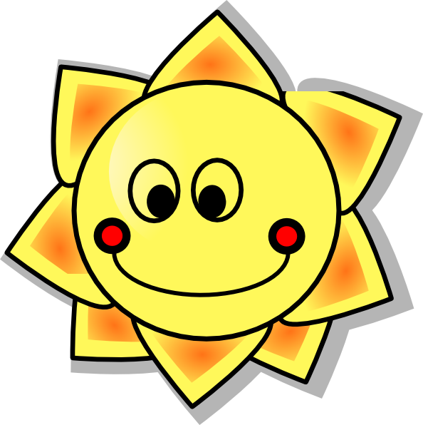 Smiling sun royalty free. Clipart smile smiled