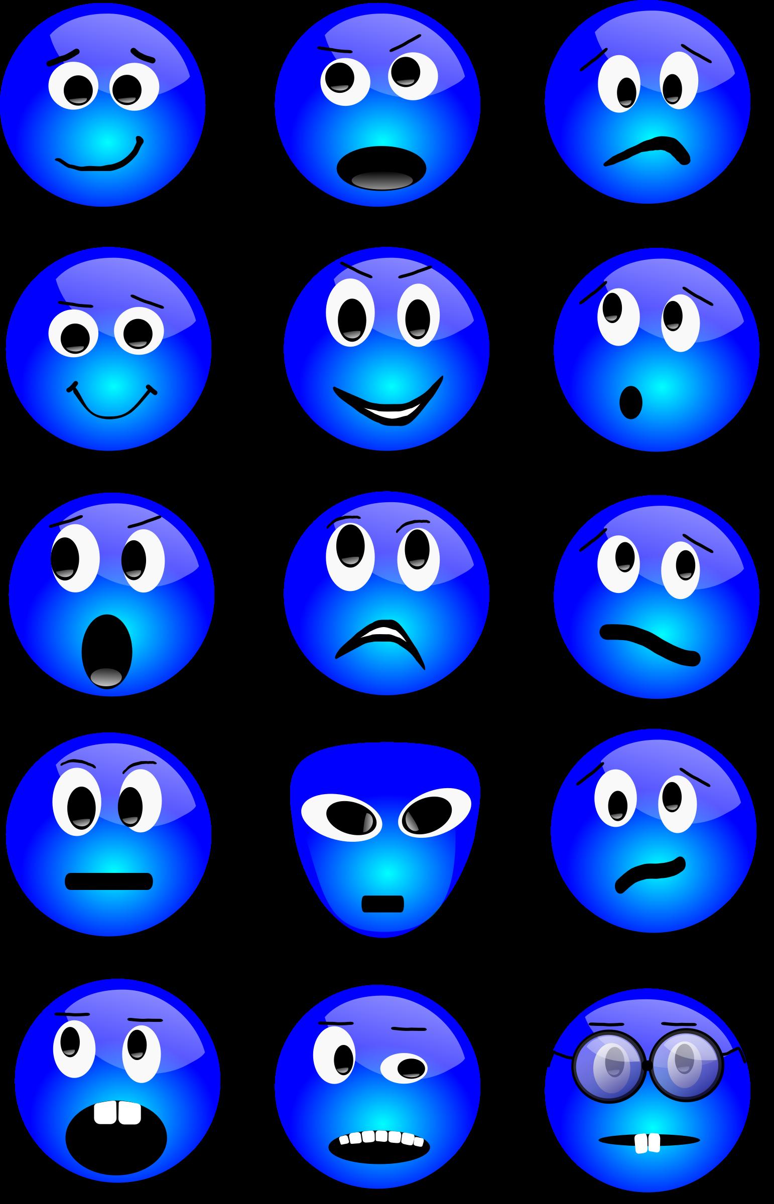 Smiley face big image. Faces clipart basic emotion