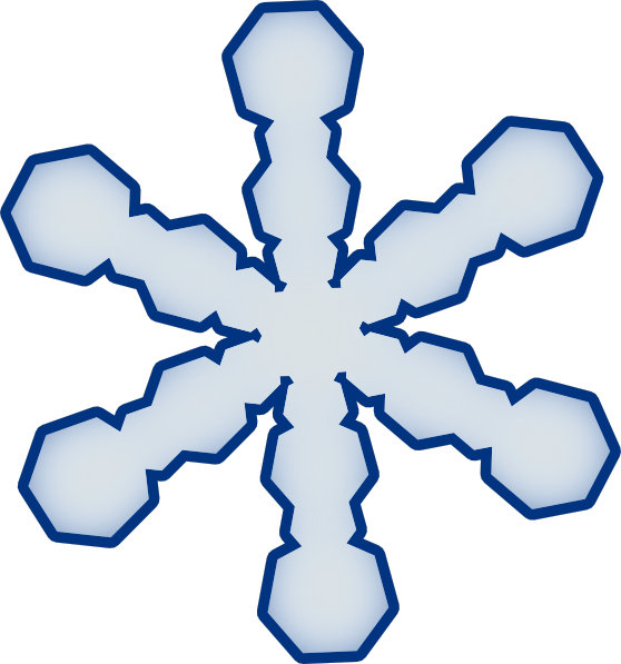 Clipart smile snowflake. Simple clip art vector