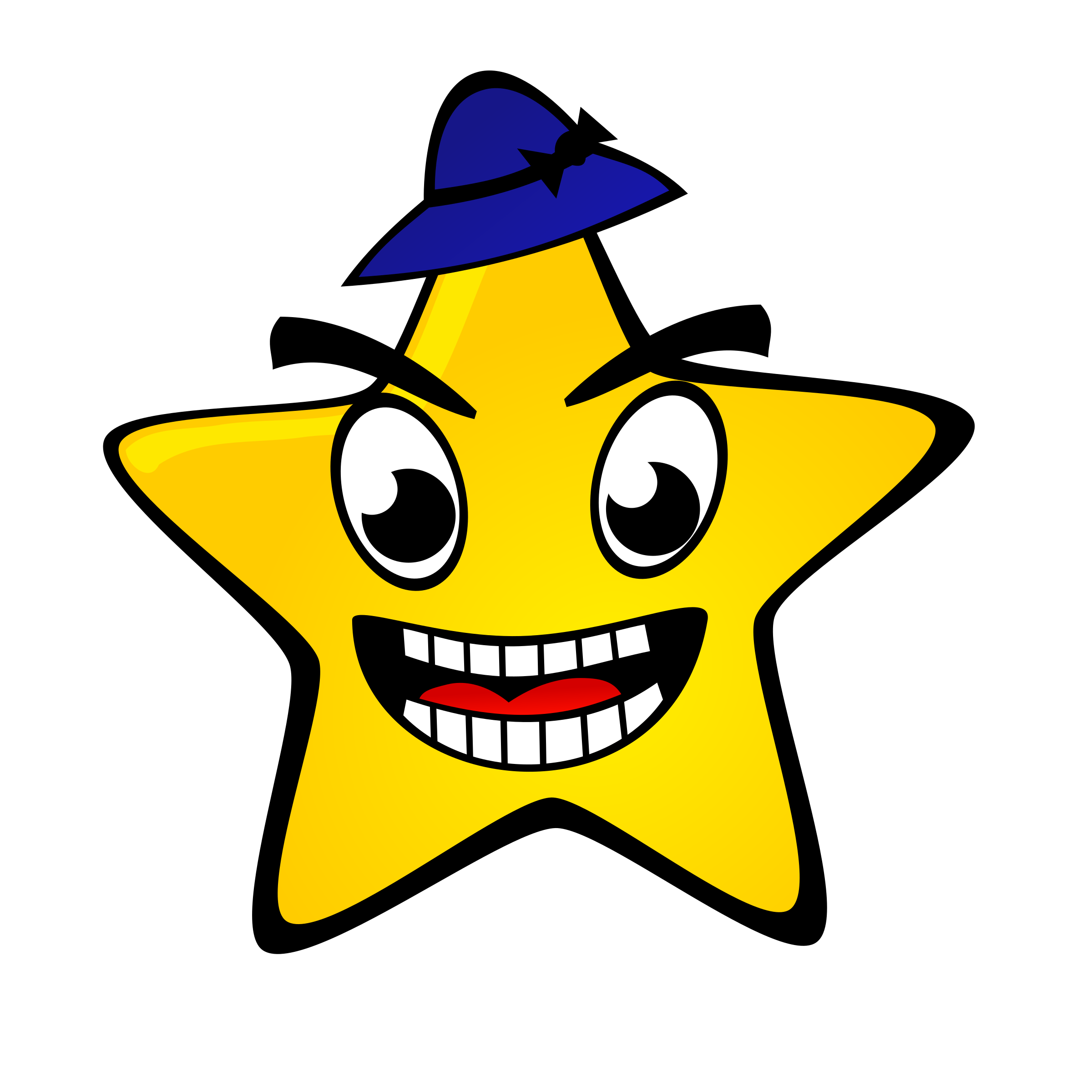 Starry star big image. Night clipart happy