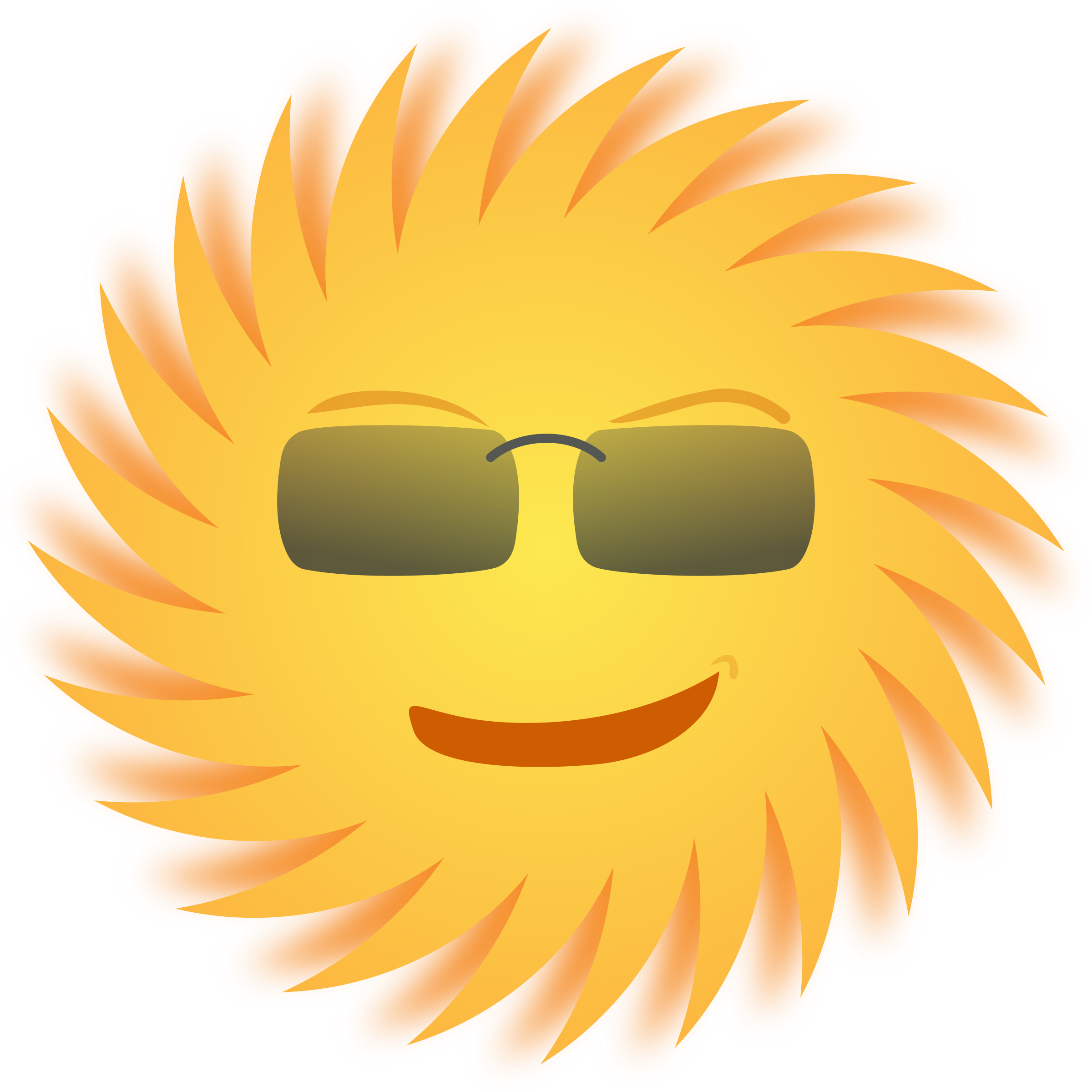 Moving clipart mouth. Mr sun big image