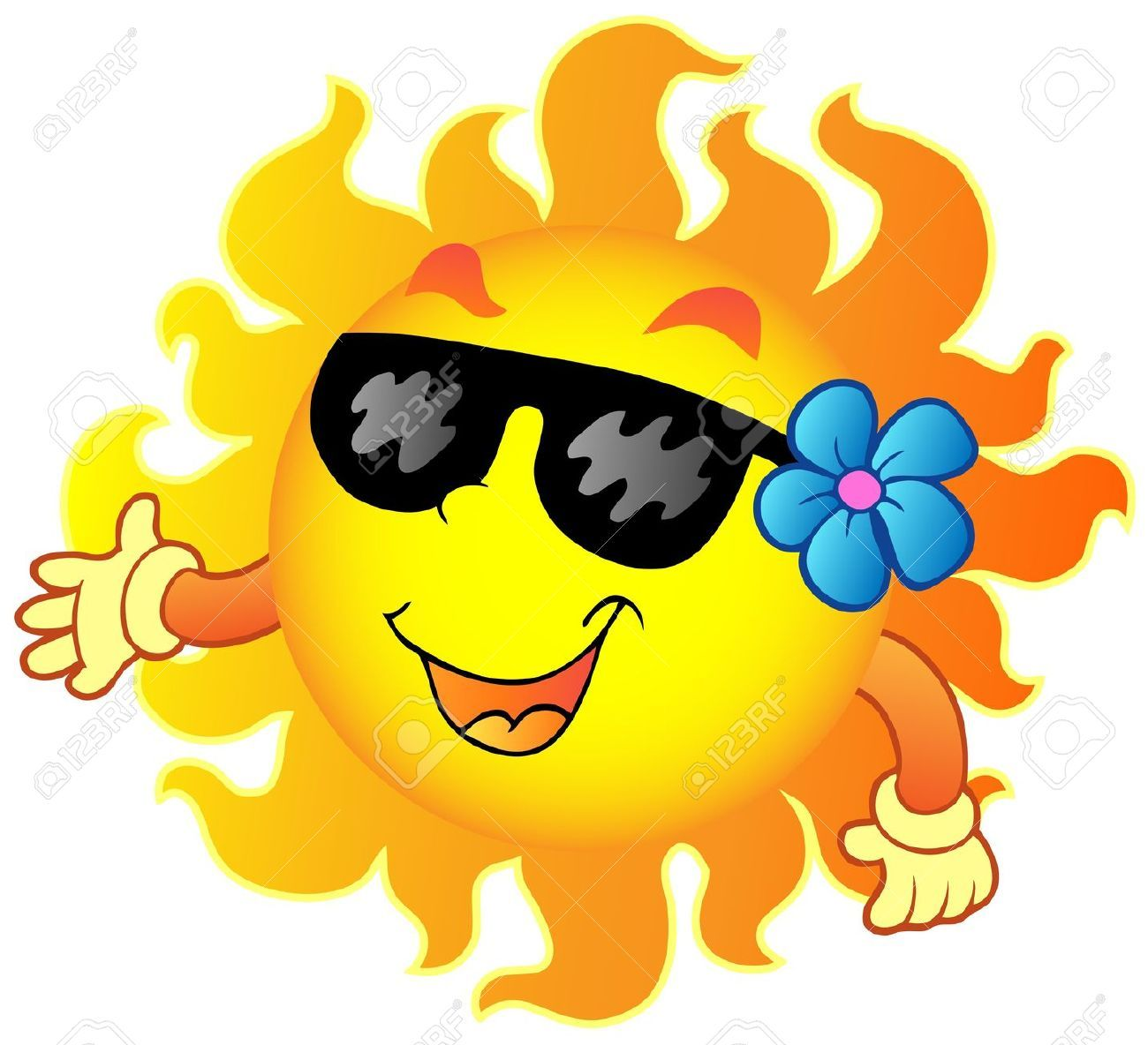 Sunny clipart cool sunglasses. Awesome happy summer sun