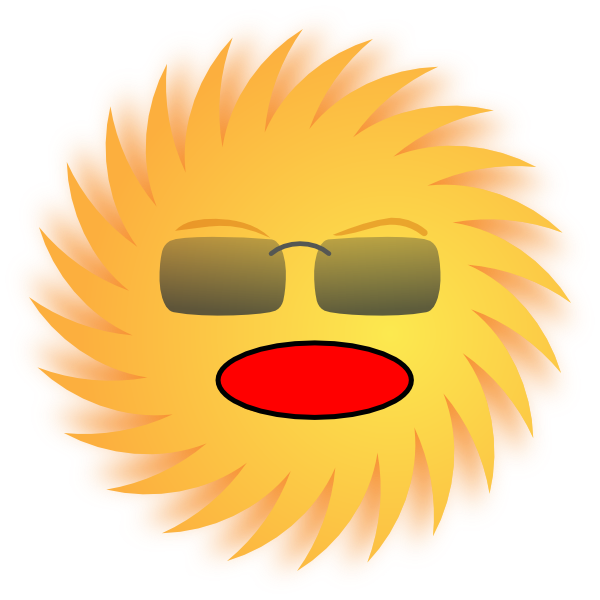 Sunny clipart s sunny. Shocked sun clip art