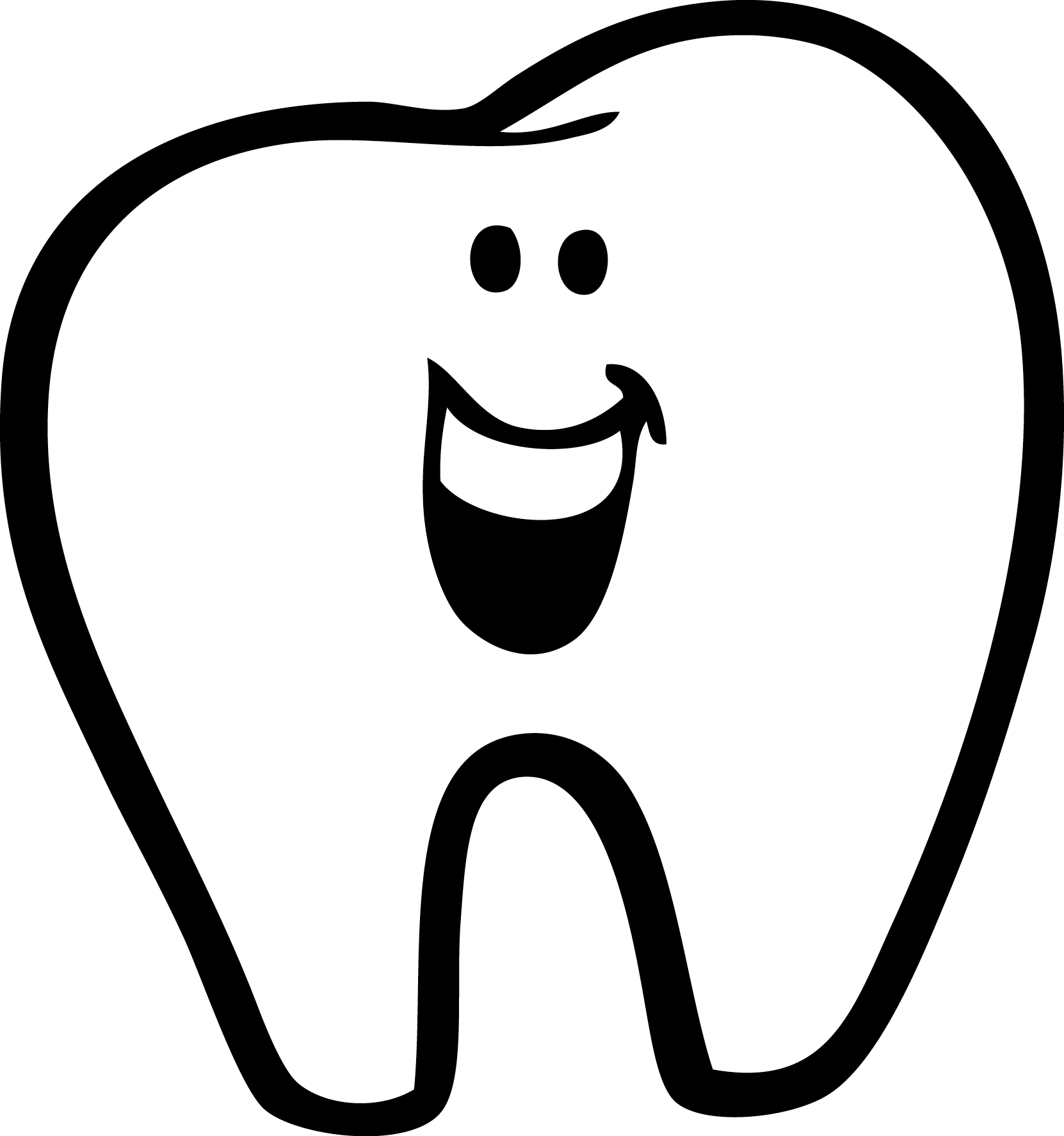 Dentist clipart outline.  collection of teeth