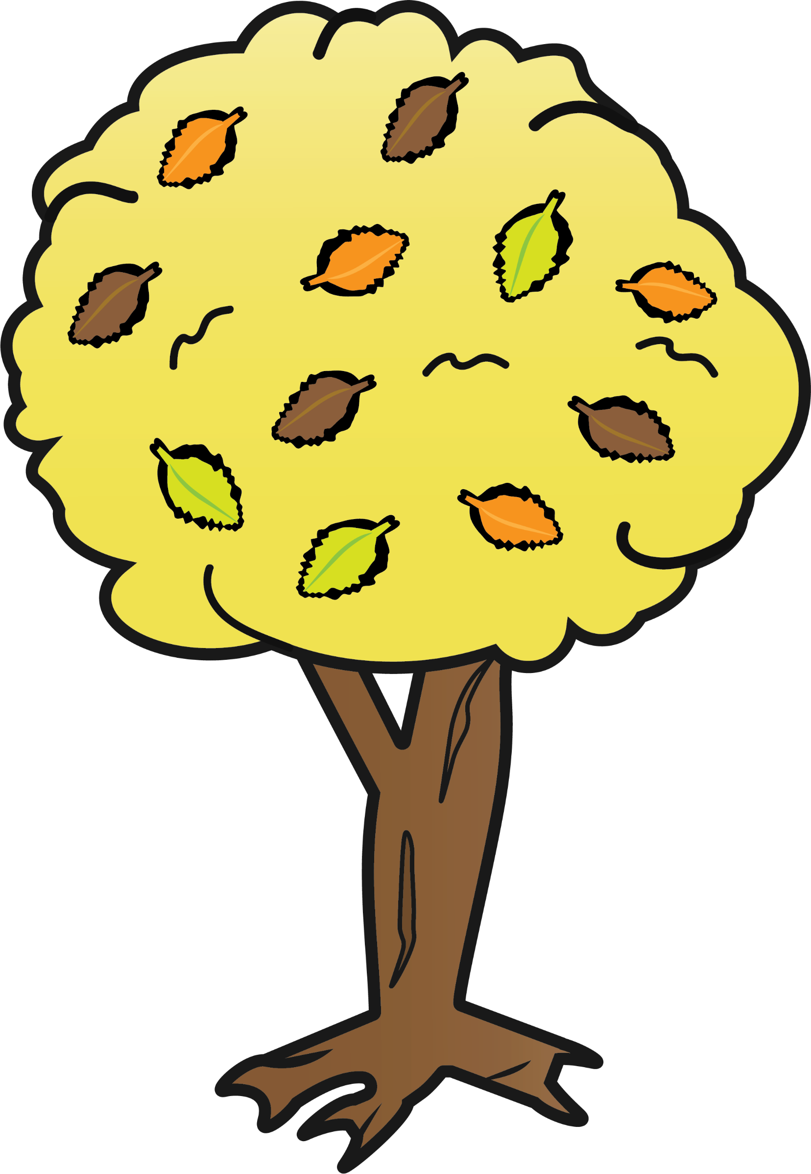 Clipart smile tree. Yellow big image png