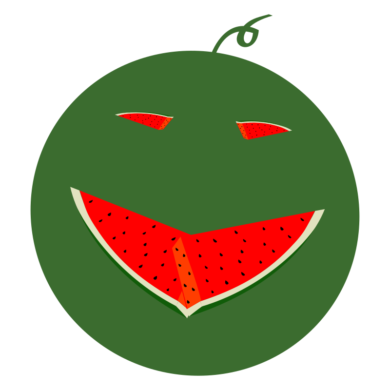 Face medium image png. Watermelon clipart smile