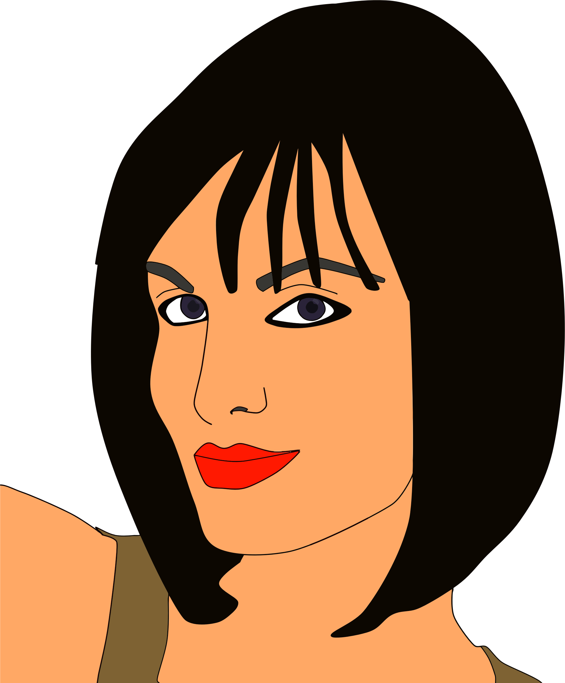 Clipart smile woman smile. Wryly smiling big image