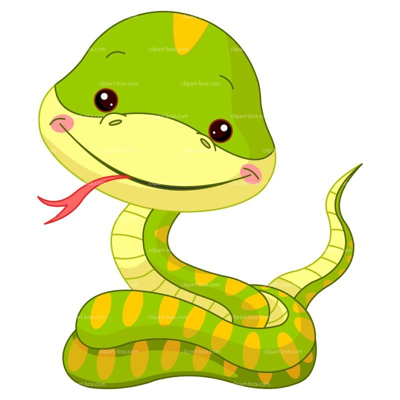 Snake clipart forest animal. Funny royalty free vector