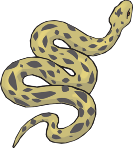 Slithering Yellow Snake Clip Art at Clker.com - vector clip art ...