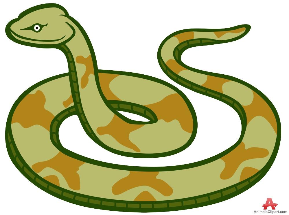 Cartoon snakes clip art. Snake clipart design