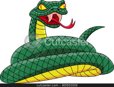 Stock vector . Snake clipart angry snake