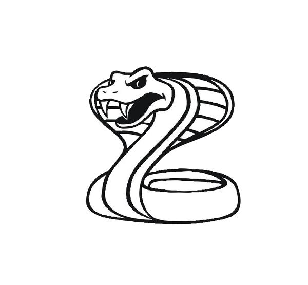 Cobra clipart snakeblack. King black mamba snake