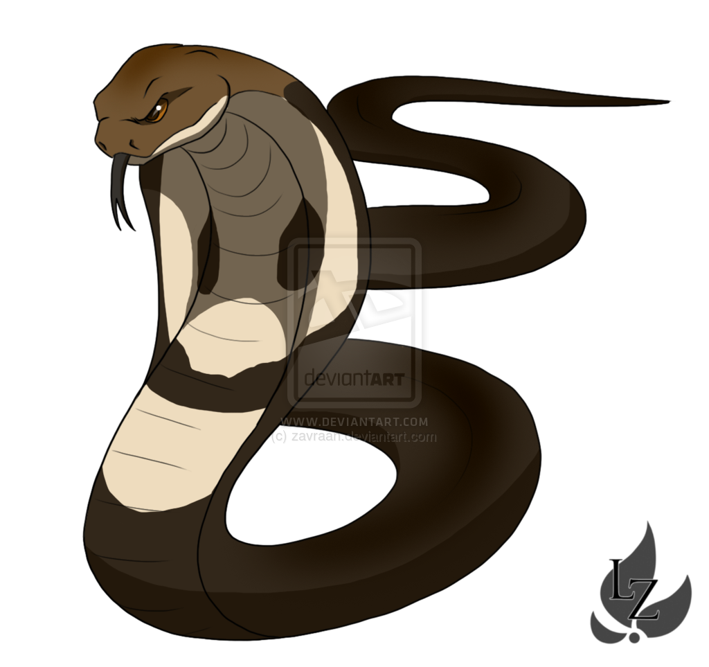 Cobra clipart realistic. King by zavraan deviantart