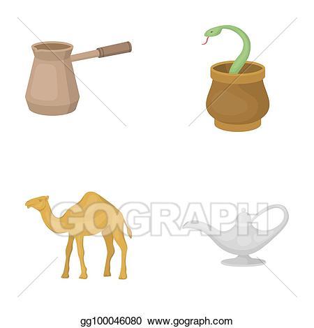 Stock illustration cezve oil. Snake clipart bitmap
