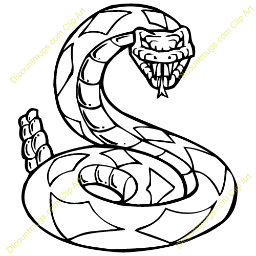 Rattlesnake mugs t shirts. Cobra clipart rattle snake line